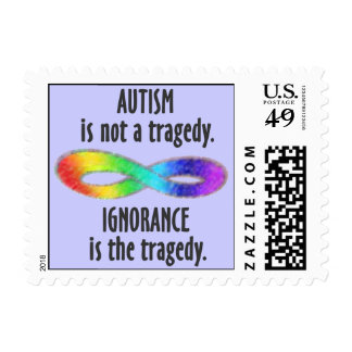 Autism is Not a Tragedy Stamps