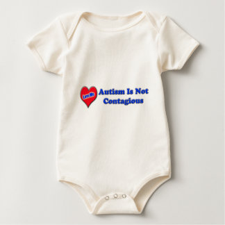 Autism Is Not Contagious Baby Bodysuit