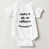 Autism is not the problem baby bodysuit