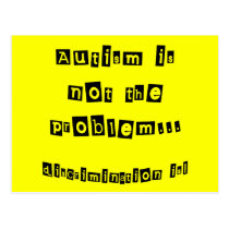 Autism is not the problem postcard