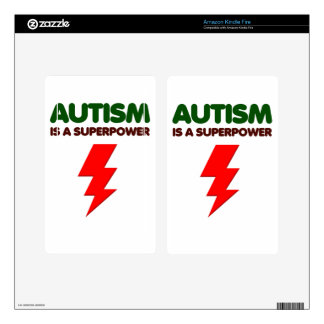 Autism is super power, children, kids, mind mental decal for kindle fire