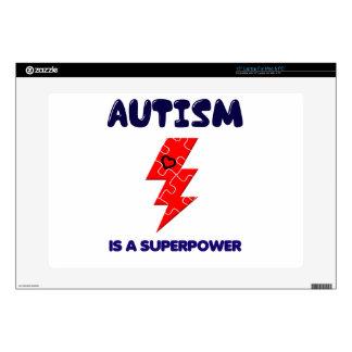 "Autism is superpower, mental condition health mind 15"" laptop skin"