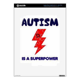 Autism is superpower, mental condition health mind decals for iPad 3