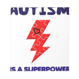 Autism is superpower, mental condition health mind notepad