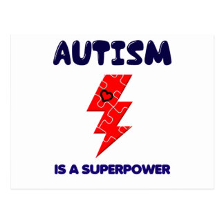 Autism is superpower, mental condition health mind postcard