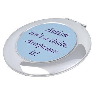 """Autism isn't a choice"" compact mirror. Makeup Mirror"