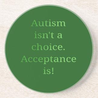 Autism isn't a choice (green coaster