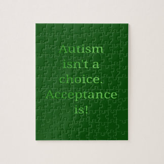 Autism isn't a choice (green jigsaw puzzle