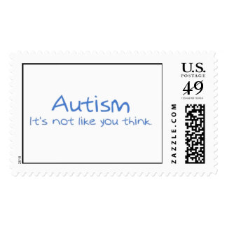"""Autism: It's Not Like You Think"" Postage"