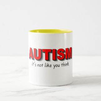 Autism Its Not Like You Think (Red) Two-Tone Coffee Mug