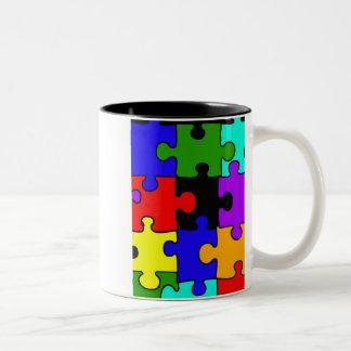 autism jigsaw puzzel piece coffee mug
