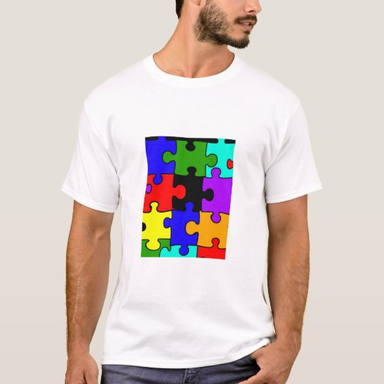 autism jigsaw puzzel piece kid's t-shirt
