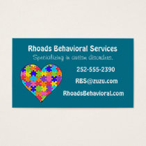 Autism Jigsaw Puzzle Heart Business Card
