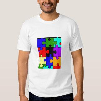 autism jigsaw puzzle piece adult t-shirt
