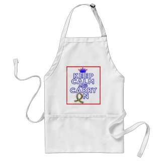 Autism Keep Calm and Carry ON Aprons