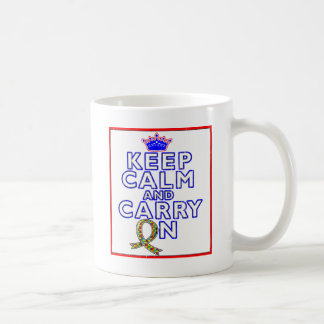 Autism Keep Calm and Carry ON Mugs