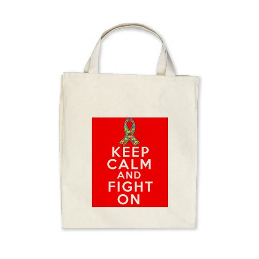 Autism  Keep Calm and Fight On Bag
