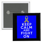 Autism  Keep Calm and Fight On Button