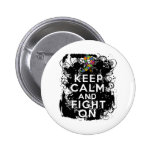 Autism Keep Calm and Fight On Buttons