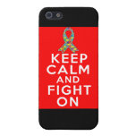 Autism Keep Calm and Fight On Cases For iPhone 5