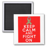 Autism  Keep Calm and Fight On Fridge Magnets