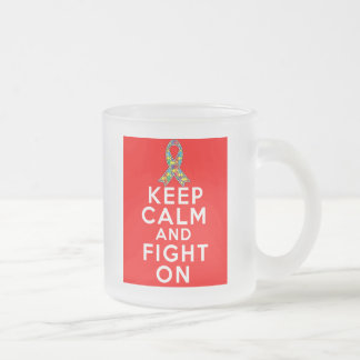 Autism  Keep Calm and Fight On Coffee Mugs