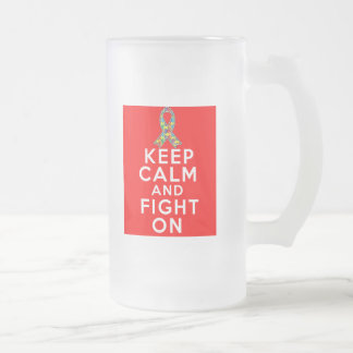 Autism  Keep Calm and Fight On Mugs