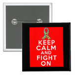Autism  Keep Calm and Fight On Pin