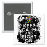 Autism Keep Calm and Fight On Pinback Button