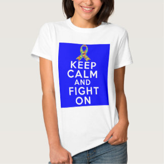 Autism  Keep Calm and Fight On Shirt