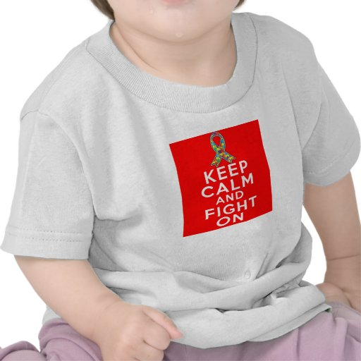 Autism  Keep Calm and Fight On T Shirts