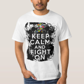 Autism Keep Calm and Fight On Tshirts