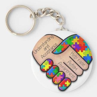 Autism Key ring Basic Round Button Keychain