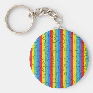 Autism Basic Round Button Keychain