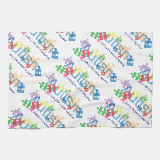 Autism Kitchen Towel, Putting the pieces together Hand Towel