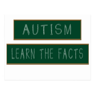 Autism: Learn The Facts Postcard