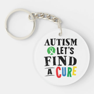 Autism Lets Find A Cure Awareness Keychain