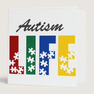Autism life 3 ring binder