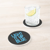 Autism Light It Up Blue Autism Awareness Coaster