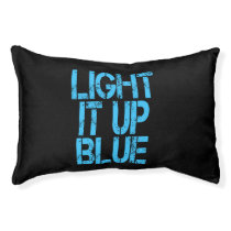 Autism Light It Up Blue Autism Awareness Pet Bed