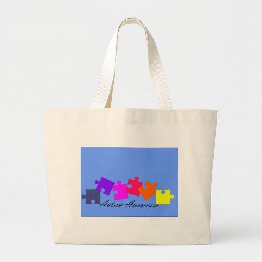 Autism Linear Design Jumbo Tote Bag