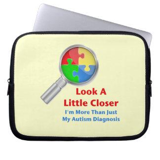 Autism: Look Closer Computer Sleeve