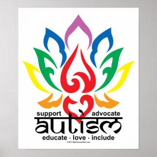 Autism Lotus Flower Poster