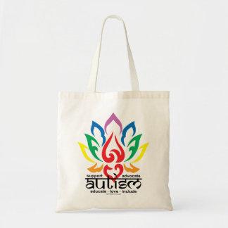 Autism Lotus Flower Tote Bag