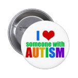 Autism Love 2 Inch Round Button