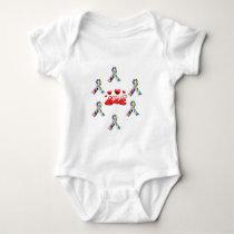 Autism Love Baby Bodysuit
