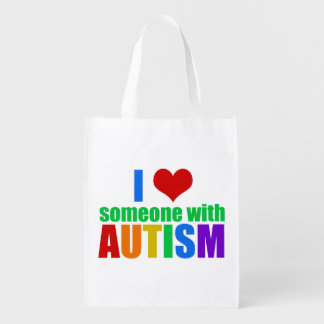 Autism LOVE Grocery Bags