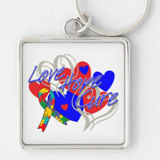 Autism Love Hope Cure Keychain