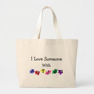 Autism Love Large Tote Bag