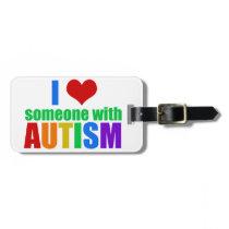 Autism Love Luggage Tag